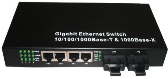 2 Fiber Ports 4 Rj45 Ports Fiber Ethernet Media Converter