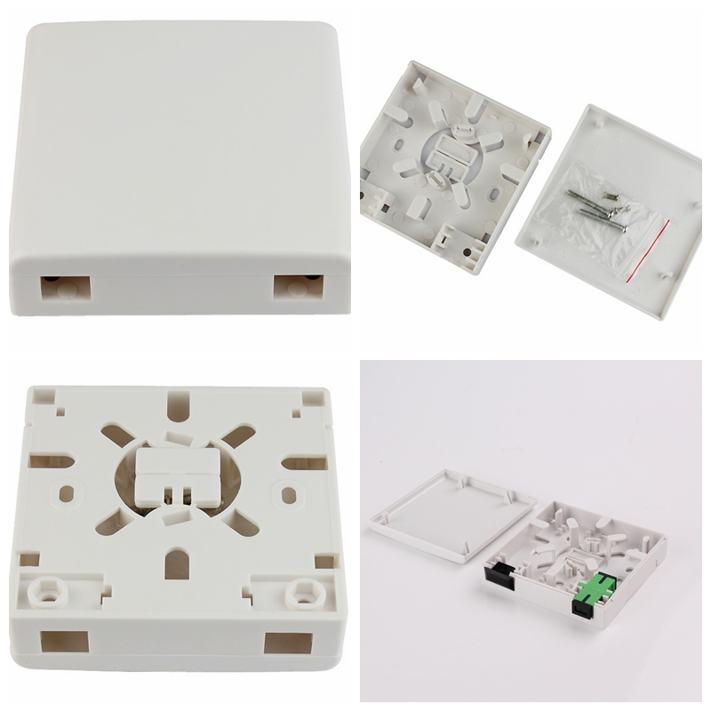 2 Ports FTTH Indoor Fiber Optic Termination Box Socket Panel Wall Outlet