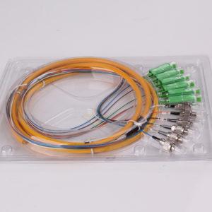 6 ST -6 SC APC fan-out fiber optic pigtail