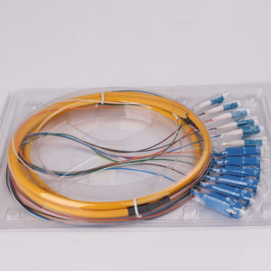 6 lc -6 SC UPC fan-out fiber optic pigtail