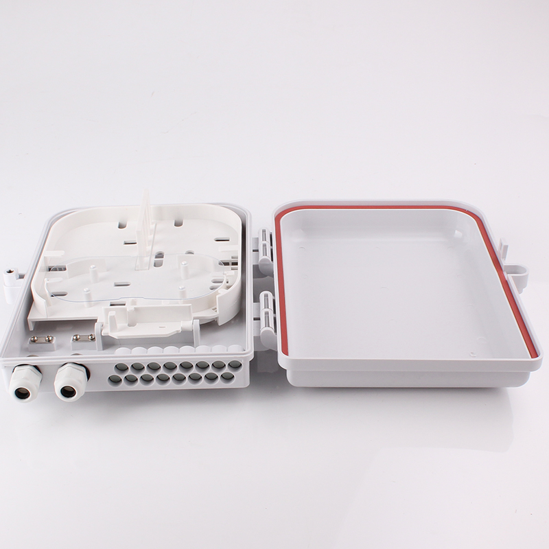 FTTH16A 16 Cores Outdoor Indoor Fiber Optic Distribution Box Inside view