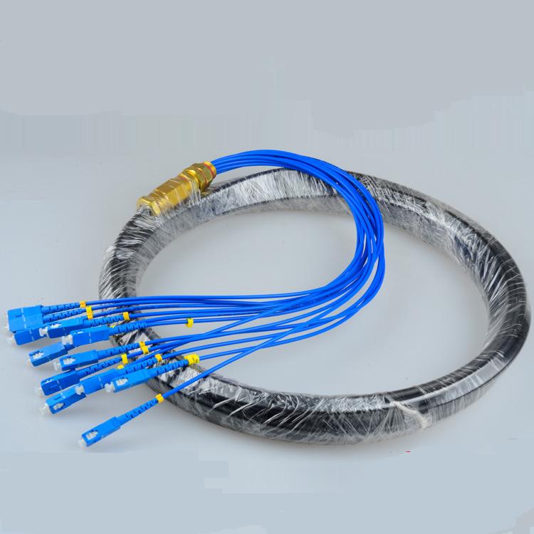 SC-UPC 12Cores Singlemode 5m waterproof outdoor fiber optic bunch pigtails