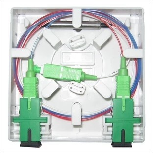 FTTH01B Fiber Optical Socket Pannel install the fiber optic splitter and SC/APC optic patch cable