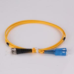ST to SC single mode OS1 Duplex 3.0mm 1m Hybrid Fiber Optic Patch cords
