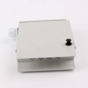 WTBA 4 ports SC FC ST wall mounted fiber optic terminal box side view