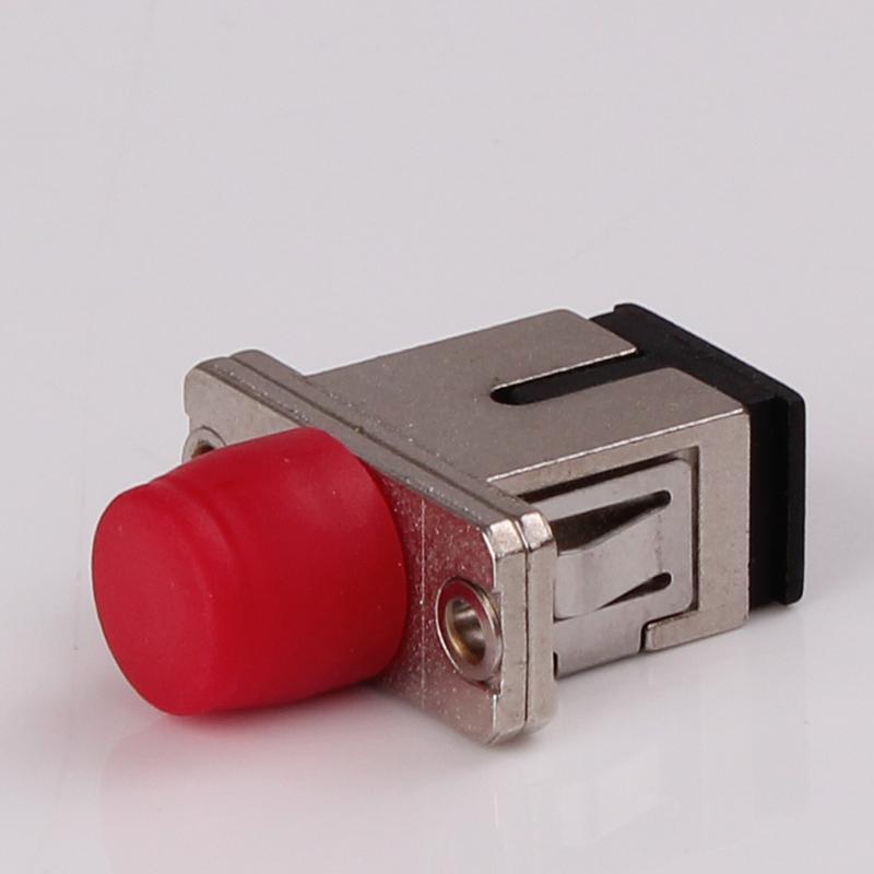FC to SC simplex SX fiber optic hybrid adapter