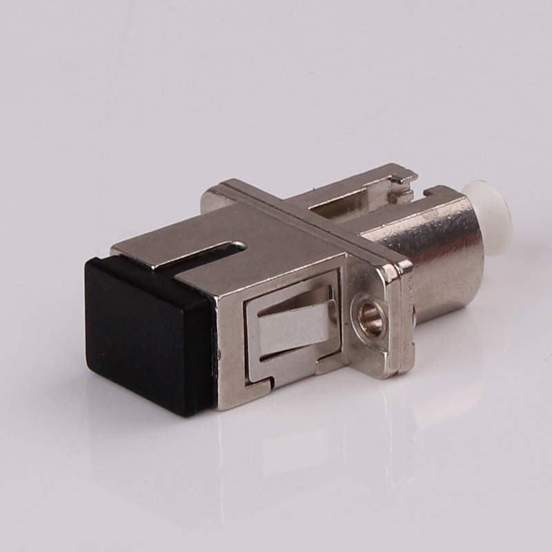 SC Male to LC Female Singlemode Fiber Optic Hybrid Adapter