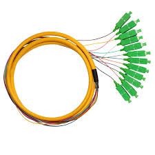 12 Fiber Single-mode Bunch Fiber Optic Pigtail with SC FC LC ST Connectors