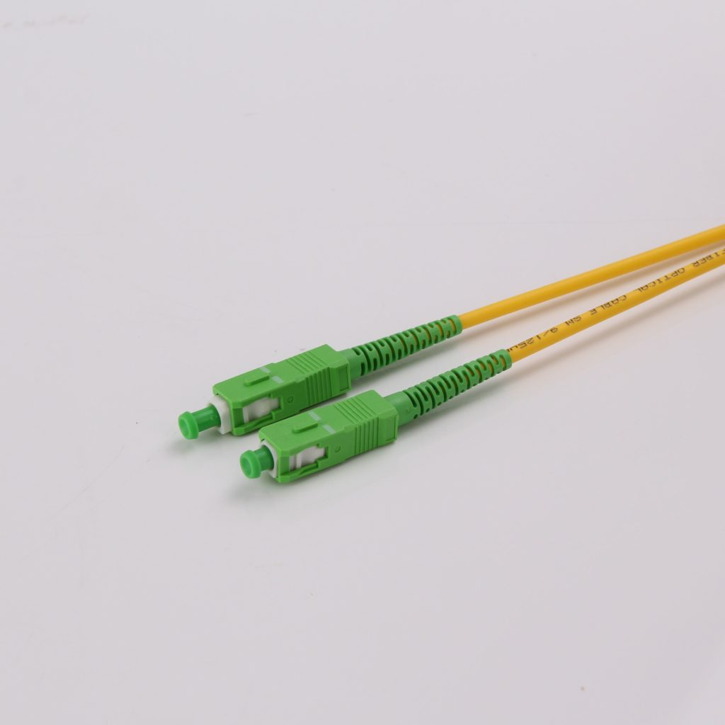 SC APC to SC APC Single-mode Fiber Optic jumpers 2.0mm Fiber Optic Patch Cord..