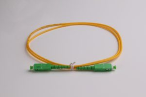 SC APC to SC APC Single mode Fiber Optic jumpers 3.0mm Fiber Optic Patch Cord