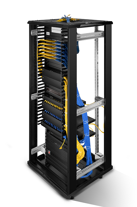 cable management panel 1U 24 cores enclosed tank CMH-QD1U application