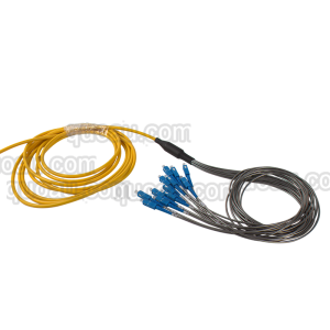 Customized 12 fibers Singlemode Armored Breakout patch cord SC upc