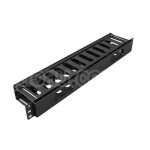 1U closing horizontal cable organizer shunting panel