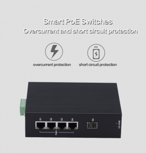 2fiber 4 POE 1000M unmanaged POE DIN rail industrial grades Ethernet switch Full Gigabit Unmanaged PoE Industrial Ethernet Switches (10)